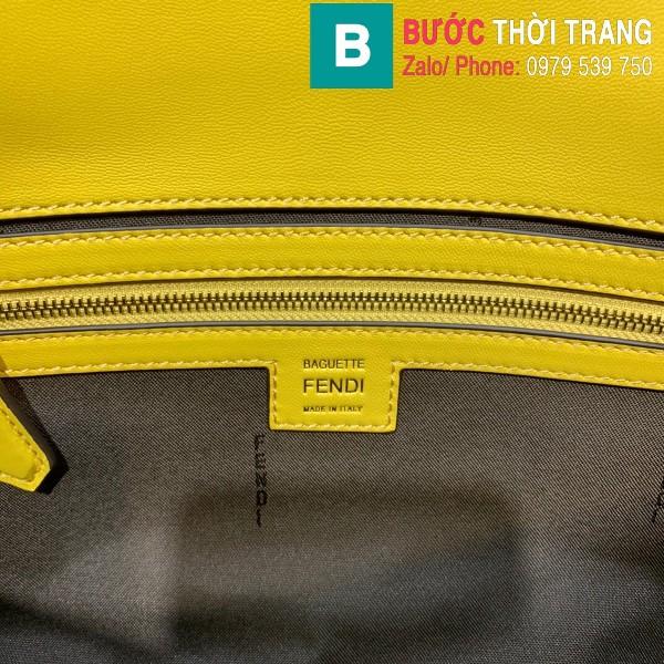 Túi xách Fendi Baguette bag siêu cấp da nappa màu vàng size 32cm