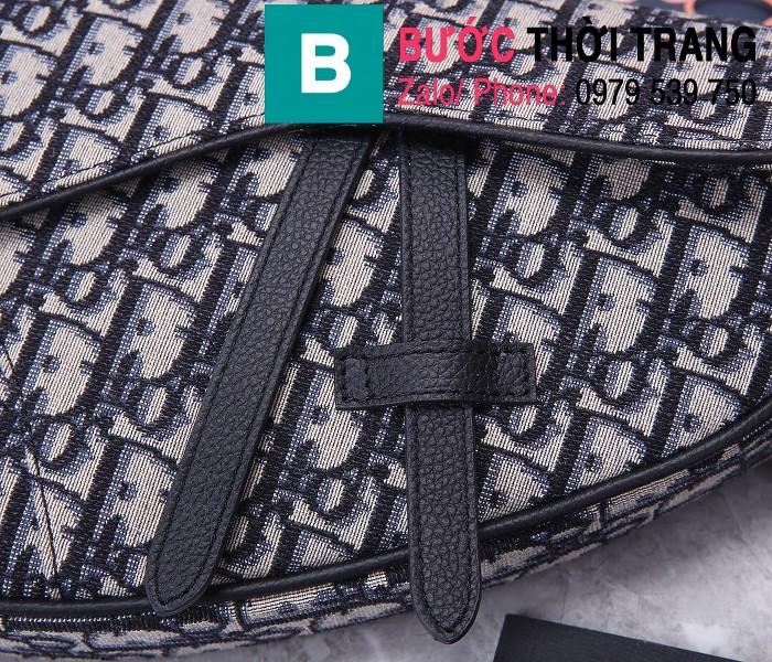 Túi xách Dior Saddle Bag siêu cấp chất liệu vải casvan màu 4 size 28.6cm