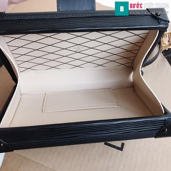 Túi xách LV Petite Malle siêu cấp màu đen size 20 cm - M40273