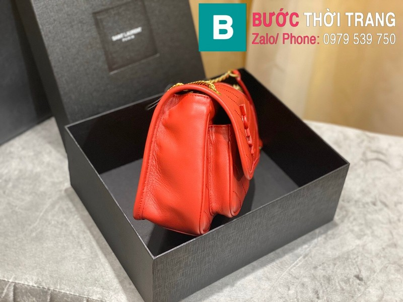 Túi xách YSL Niki siêu cấp da cừu màu đỏ size 22cm - 533037