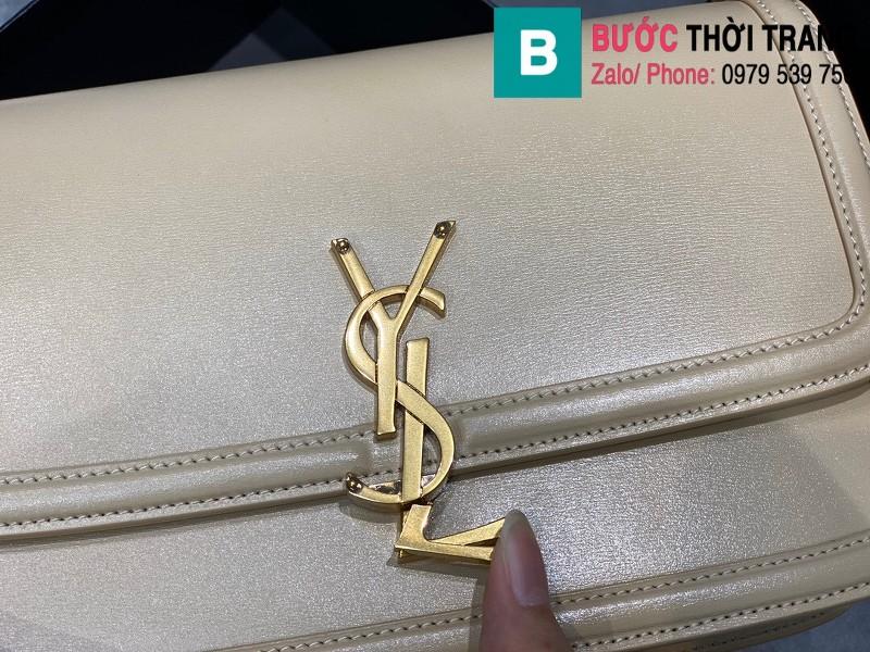 Túi xách YSL Solferino box Sant Laurent siêu cấp da bê màu trắng size 23cm - 634305