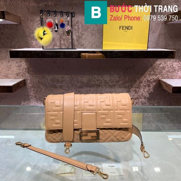Túi xách Fendi Baguette bag siêu cấp da nappa màu nâu size 32cm