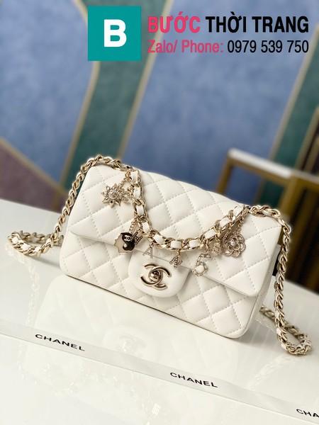 Túi xách Chanel Folding Bag siêu cấp da cừu màu trắng size 20cm - AS2326