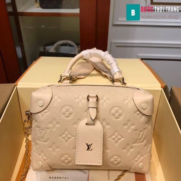 Túi xách LV Louis Vuitton Petite malle souple siêu cấp màu trắng ngà size 20 cm - M45393
