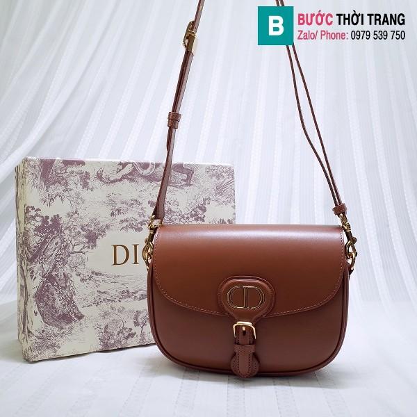 Túi xách Dior bobby siêu cấp da bê màu nâu size 18 cm