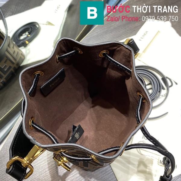 Túi xách Fendi Mon Tresor siêu cấp da bê màu nâu size 12cm