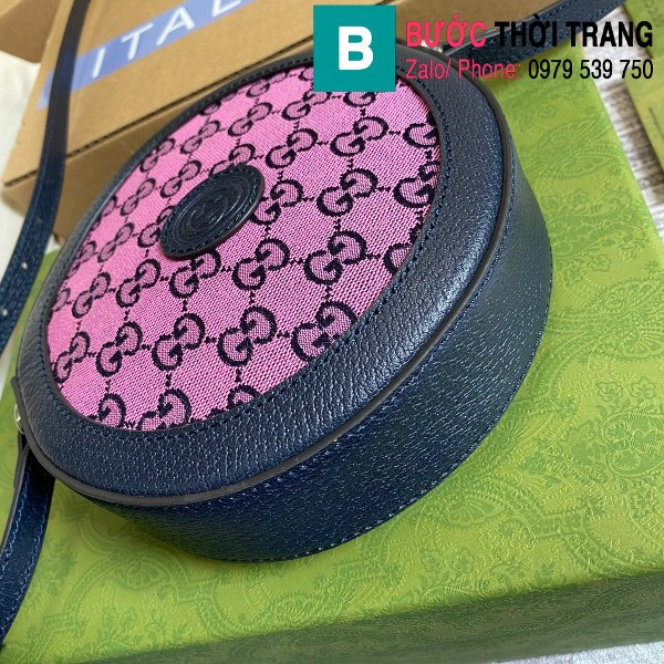 Túi xách Gucci Multicolour shoulder bag siêu cấp casvan màu tím size 19cm - 658825