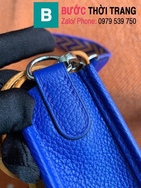 Túi xách Hermes Evelyne mini bag siêu cấp da togo màu xanh dương size 17cm