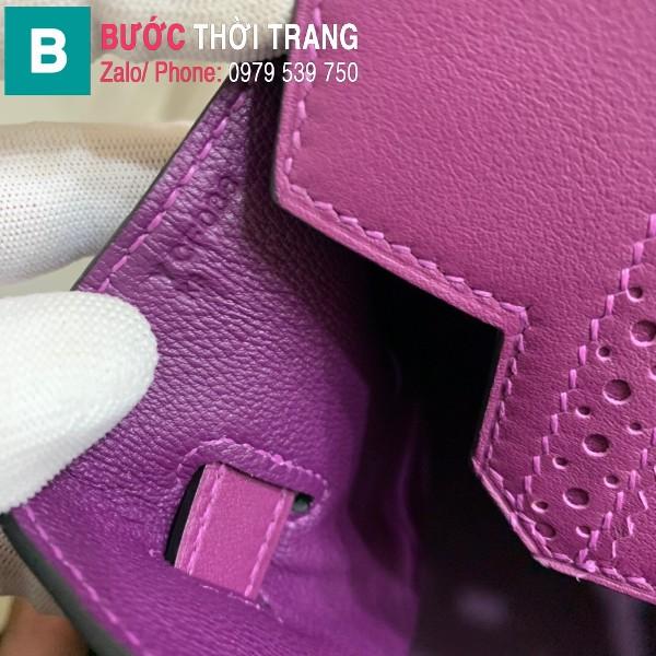 Túi xách Hermes Birkin siêu cấp da Togo màu tím size 30cm