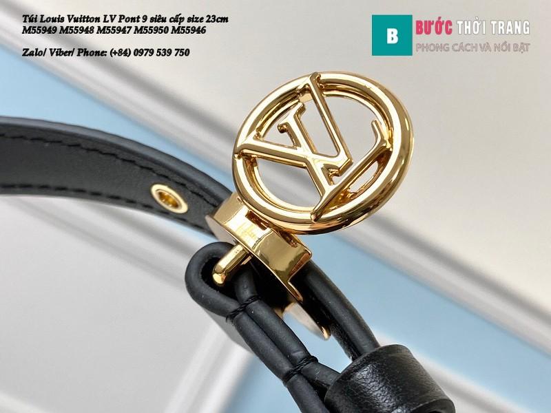 Túi Louis Vuitton LV Pont 9 siêu cấp màu đen size 23cm - M55948