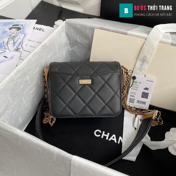 Túi xách Chanel Woke Classic Fap siêu cấp màu đen da cừu size 15 cm - AS2052