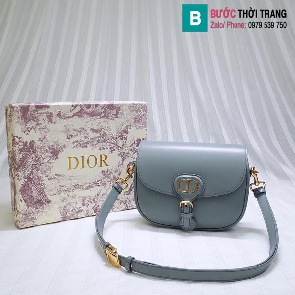 Túi xách Dior bobby siêu cấp da bê màu xanh nhạt size 18 cm