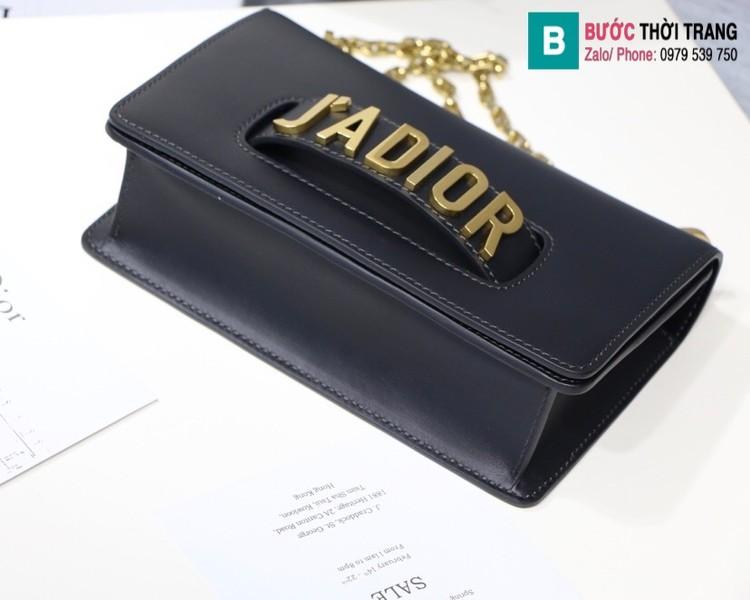 Túi xách Dior J'adior siêu cấp da trơn màu đen size 25cm
