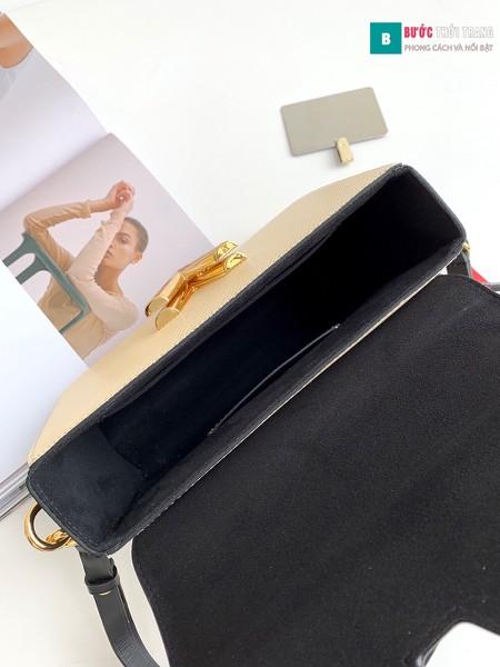 Túi xách Louis Vuitton Crafty Twist MM siêu cấp màu trắng size 23 cm - M56780