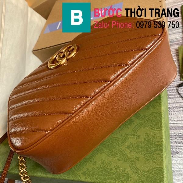 Túi xách Gucci Marmont small matelassé shoulder bag siêu cấp màu đồng size 24cm - 447632