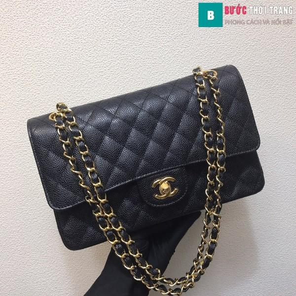 Túi xách Chanel Classic siêu cấp màu đen size 25 cm - 1112