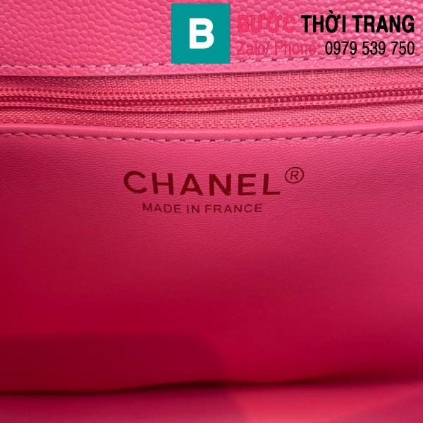 Túi đeo chéo Chanel siêu cấp da bê màu hồng size 30cm - AS2358