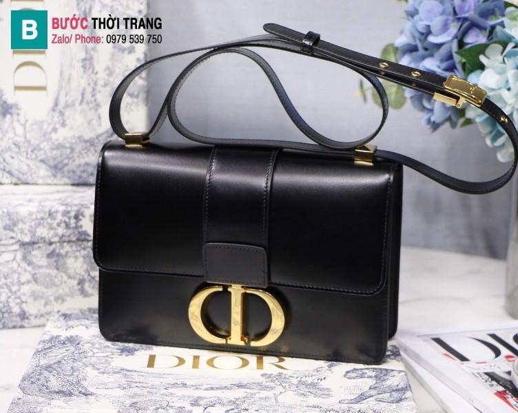 Túi xách Dior 30 Montaigne siêu cấp da bê màu đen size 24 cm