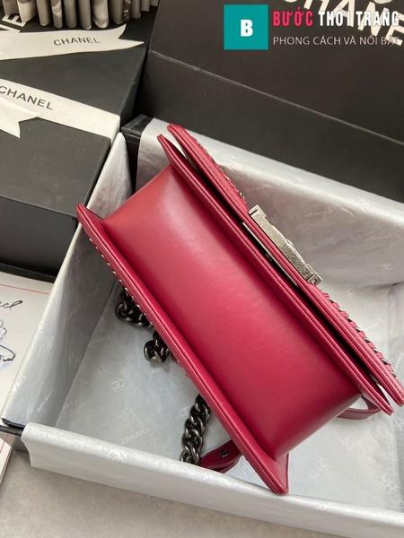 Túi xách Chanel boy siêu cấp python leather màu 10 size 20 cm - A94805