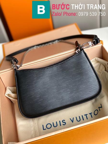 Túi LV Louis Vuitton Easy Pouch On Strap siêu cấp da bê màu đen size 19cm - M80471