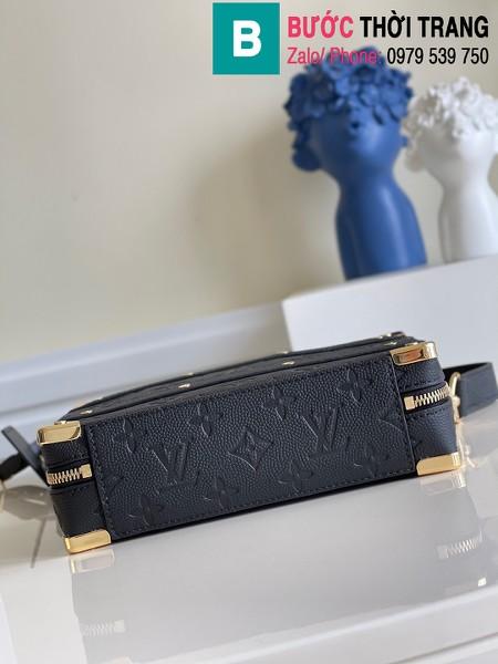 Túi xách LVXNBA Handle Trunk siêu cấp da bê màu đen size 21cm