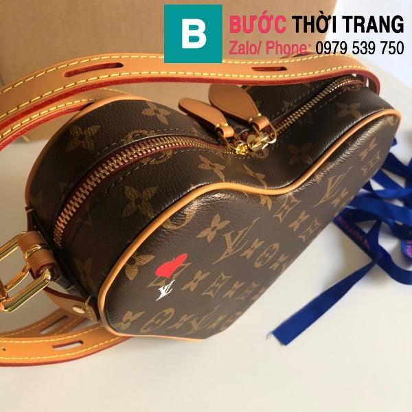 Túi xách Louis Vuitton Game on coeursiêu cấp trái tim màu nâu size 22 cm - M57456