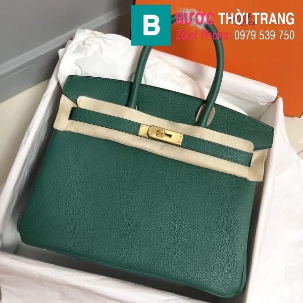 Túi xách Hermes Birkin siêu cấp da Togo màu xanh lá size 30cm