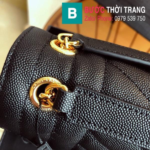 Túi xách YSL Saint Laurent Envelope bag siêu cấp da bê màu đen tag vàng size 24cm - 428134
