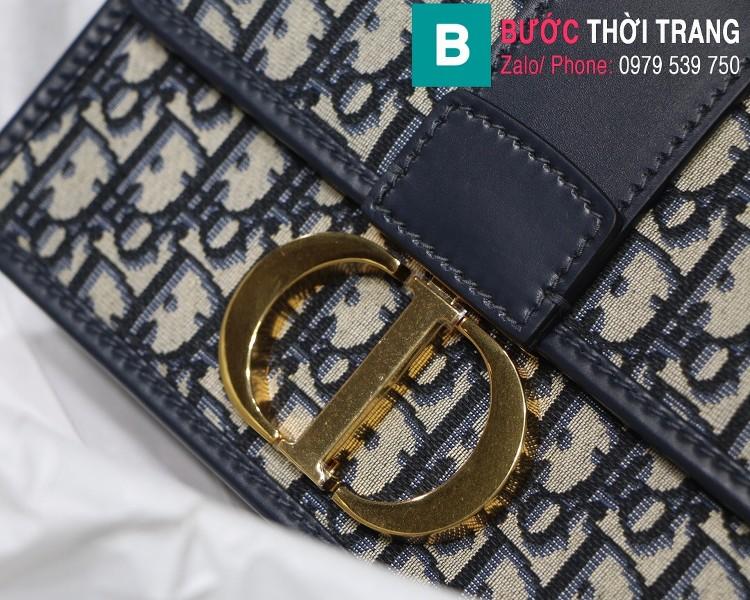 Túi xách Dior  30 Montaigne siêu cấp vải casvan màu xanh đen size 24cm