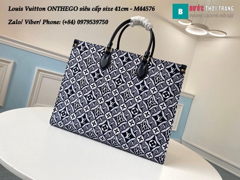 Túi xách Louis Vuitton ONTHEGO 2020 siêu cấp họa tiết đen size 41cm - M44576