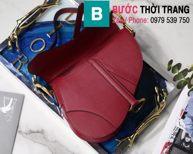 Túi xách Dior Saddle Bag siêu cấp chất liệu da bê màu đỏ đô size 25.5cm