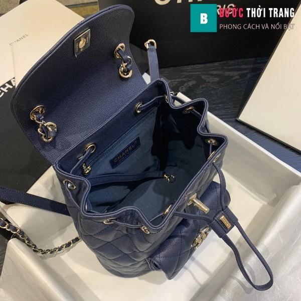 Túi xách Chanel duma backpack màu xanh đen size 21.5 cm - AS 1371