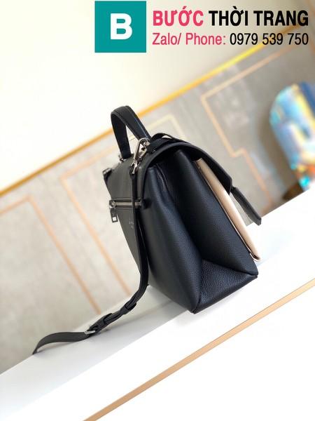 Túi xách Louis Vuitton Mylockme siêu cấp da bê màu trắng đen size 28 cm - M54878