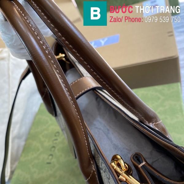 Túi xách Gucci Jacki 1961 Medium Tote Bag siêu cấp màu nâu size 30 cm - 649610