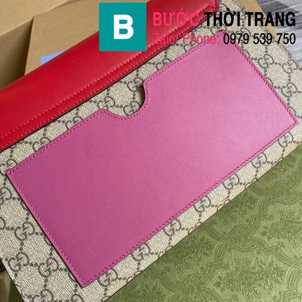 Túi xách Gucci Tian Padlock Shoulder bag siêu cấp màu be đỏ size 30cm - 409486