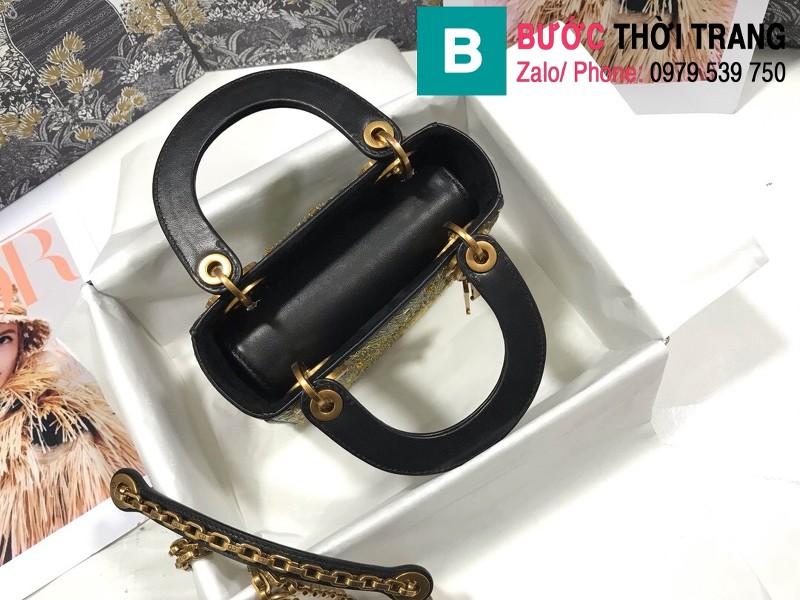 Túi xách Dior Lady siêu cấp da bê màu 3 size 17cm - M0598