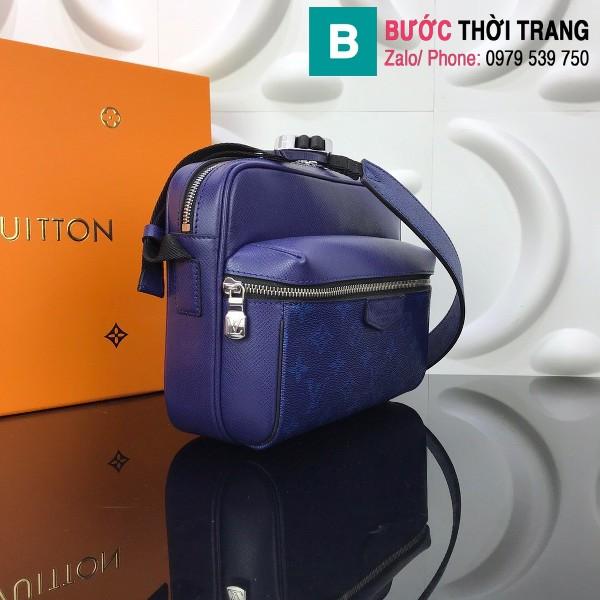 Túi Louis Vuitton Outdoor Messenger siêu cấp màu xanh dương size 25cm - M30242