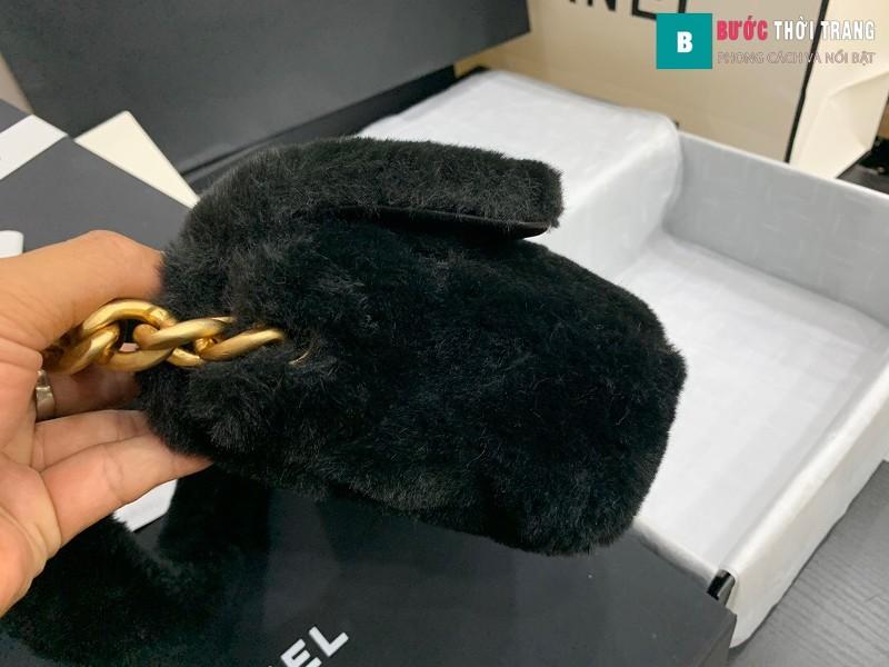 Túi xách chanel Flap Bag siêu cấp màu đen size 21.5 cm - AS2240
