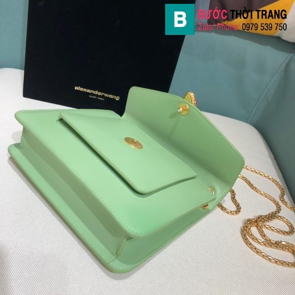 Túi xách Bvlgari Alexander Wang siêu cấp da bê màu xanh size 20 cm