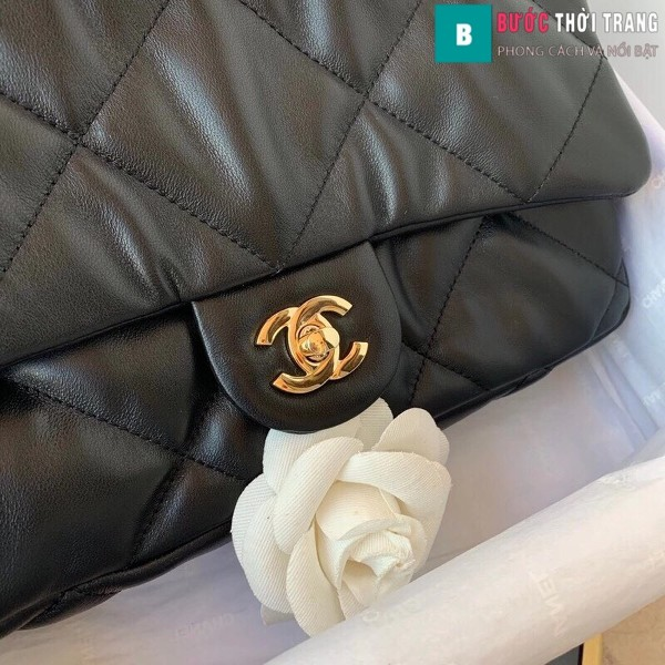 Túi xách đeo chéo Chanel siêu cấp mẫu mới màu đen size 25 cm