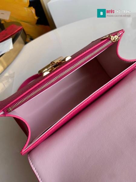 Túi LV Twist One Handle PM siêu cấp màu hồng size 29cm - M57039