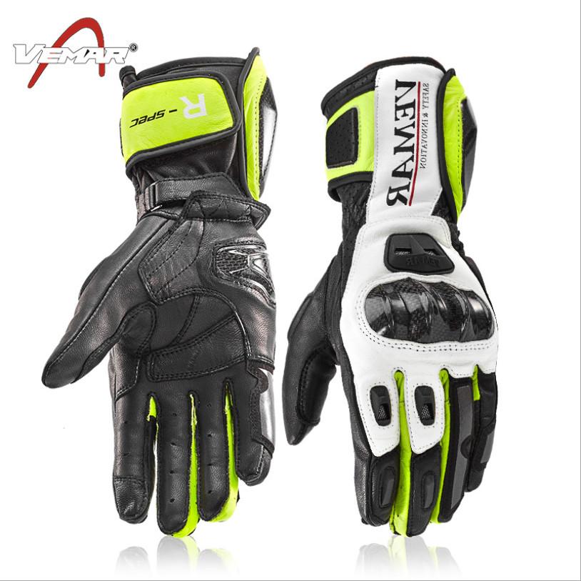 Guanto Pista Racing Protezioni Tecnico Sport Pelle Moto A-pro Bianco//Argento L