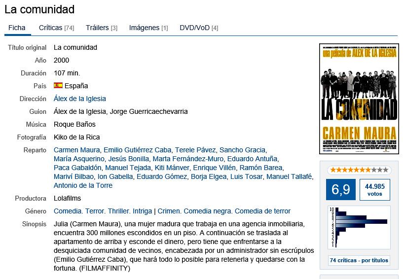 P9Dv0Z - La comunidad   2000   Comedia negra. Thriller   BDrip 1080p   castellano DTS 5.1   10,7 GB