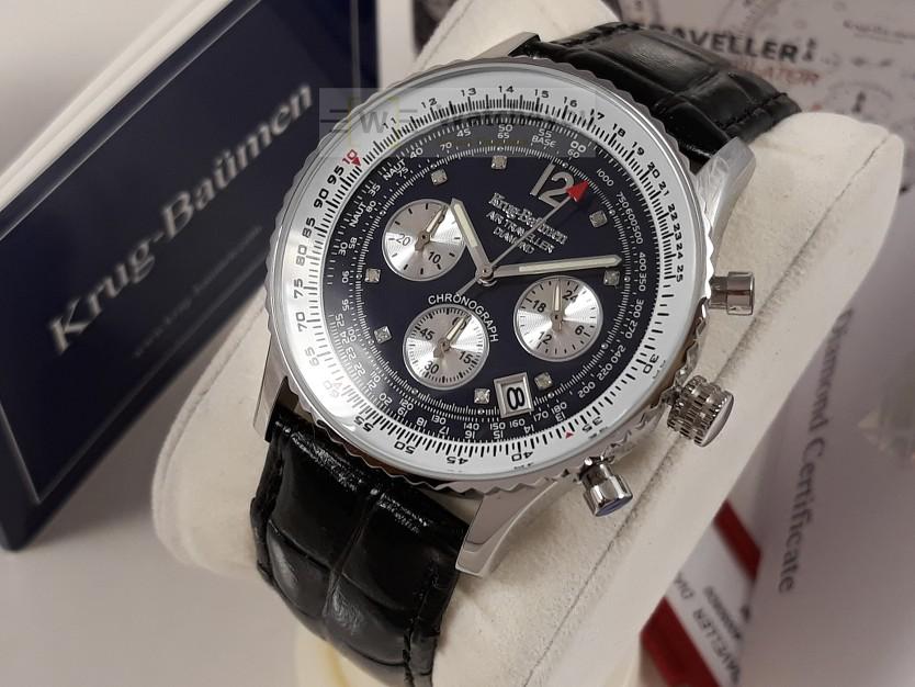 86233456d3e3 Reloj Cronógrafo Hombre KRUG BAUMEN 400508DS Diamond Para Aviator ...