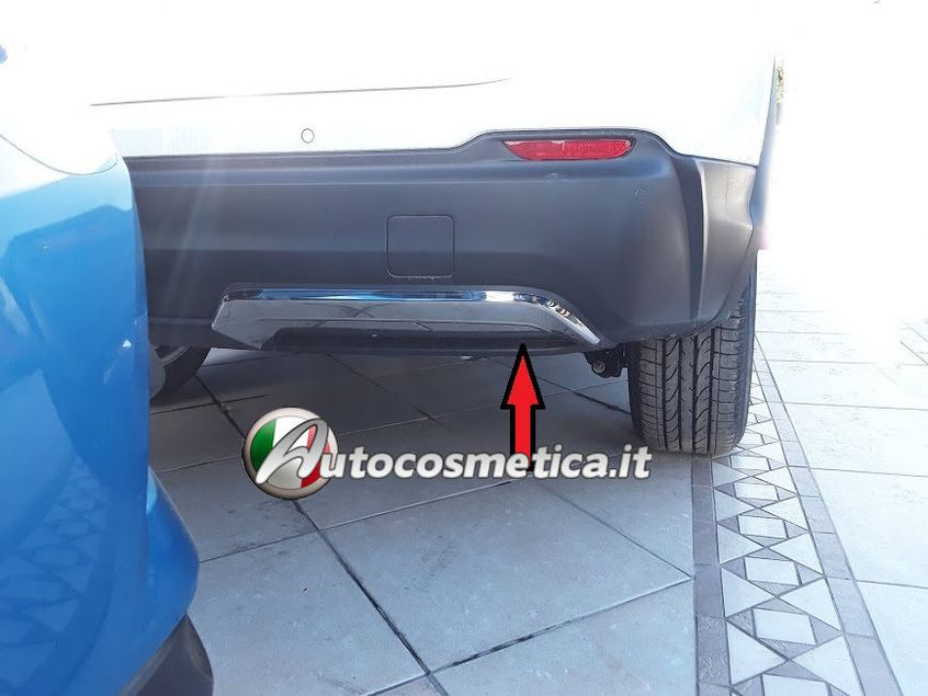 4 battitacchi+battivaligia paraurto posteriore acciaio per Nissan Qashqai 17-19