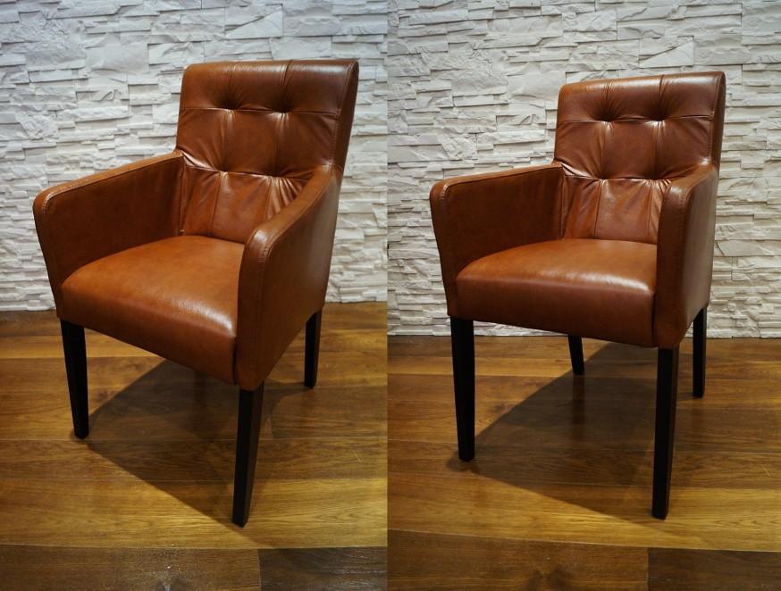 echtleder esszimmerst hle mit armlehnen stuhl sessel esszimmer echt leder st hle ebay. Black Bedroom Furniture Sets. Home Design Ideas