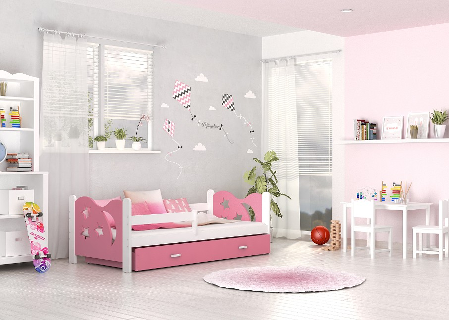 kinderbett jugend babybett 80x160 cm bett matratze lattenrost schublade ebay. Black Bedroom Furniture Sets. Home Design Ideas