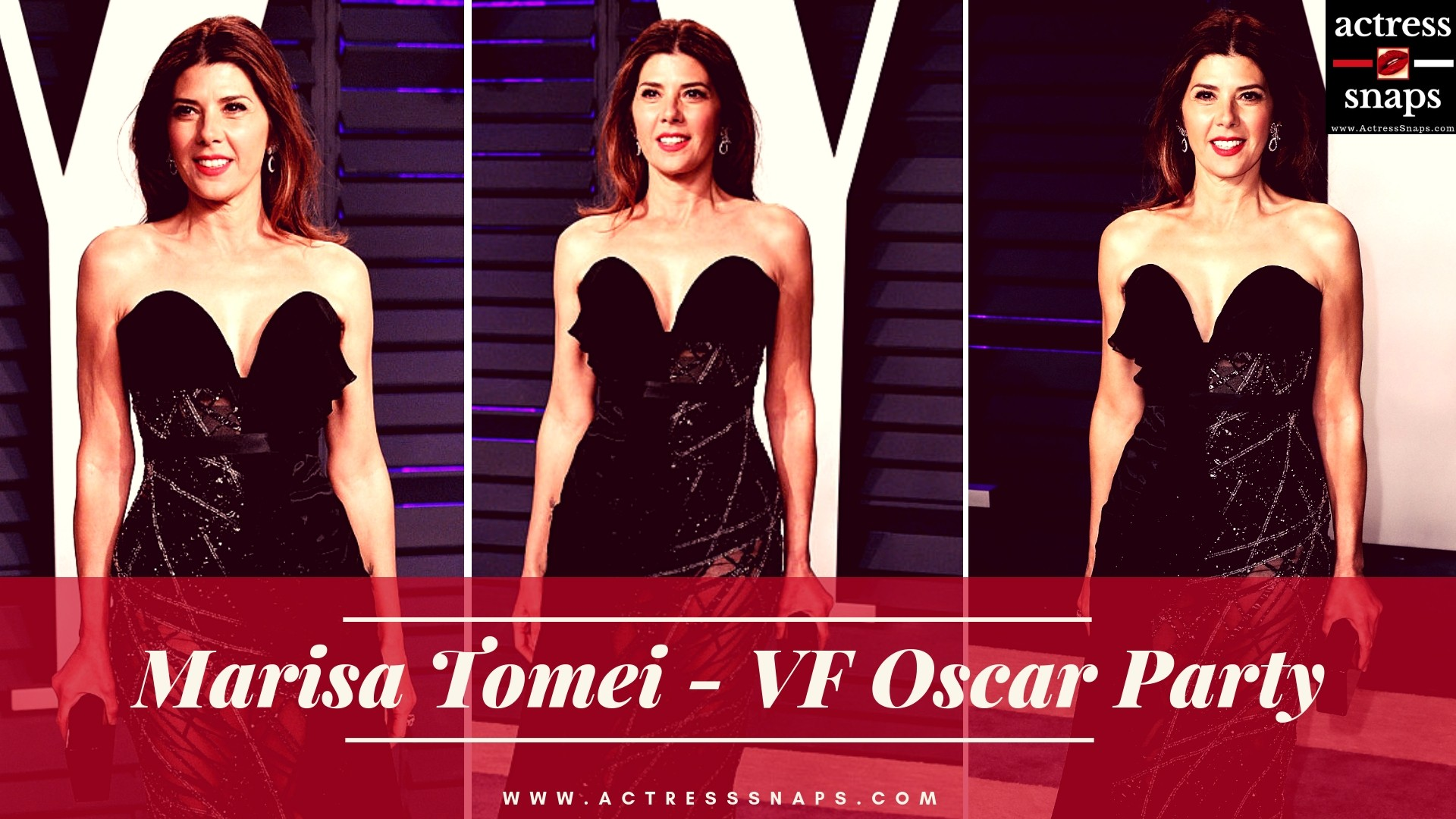 Marisa Tomei - Vanity Fair Oscar Party - Sexy Actress Pictures | Hot Actress Pictures - ActressSnaps.com