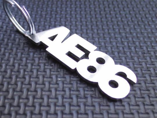 Toyota AE86 Levin Keyring Brushed Chrome Effect Classic Car Keytag Keyfob