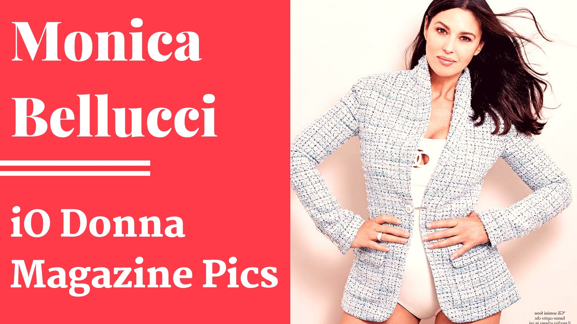 Monica Bellucci - iO Donna Magazine Photos - Sexy Actress Pictures | Hot Actress Pictures - ActressSnaps.com